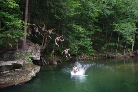 Epic Rope Swing Action